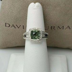 David Yurman Petite Albion Prasiolite Ring